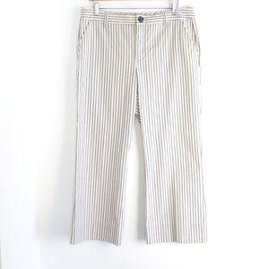 Cabi striped Tick Tock Crop stretch classic pants